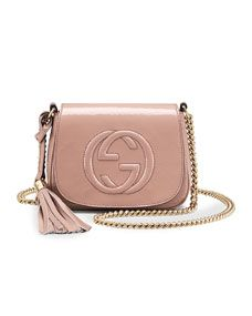 5d6310f1c Soho Small Patent Leather Chain Shoulder Bag Nude in 2019   Style ...