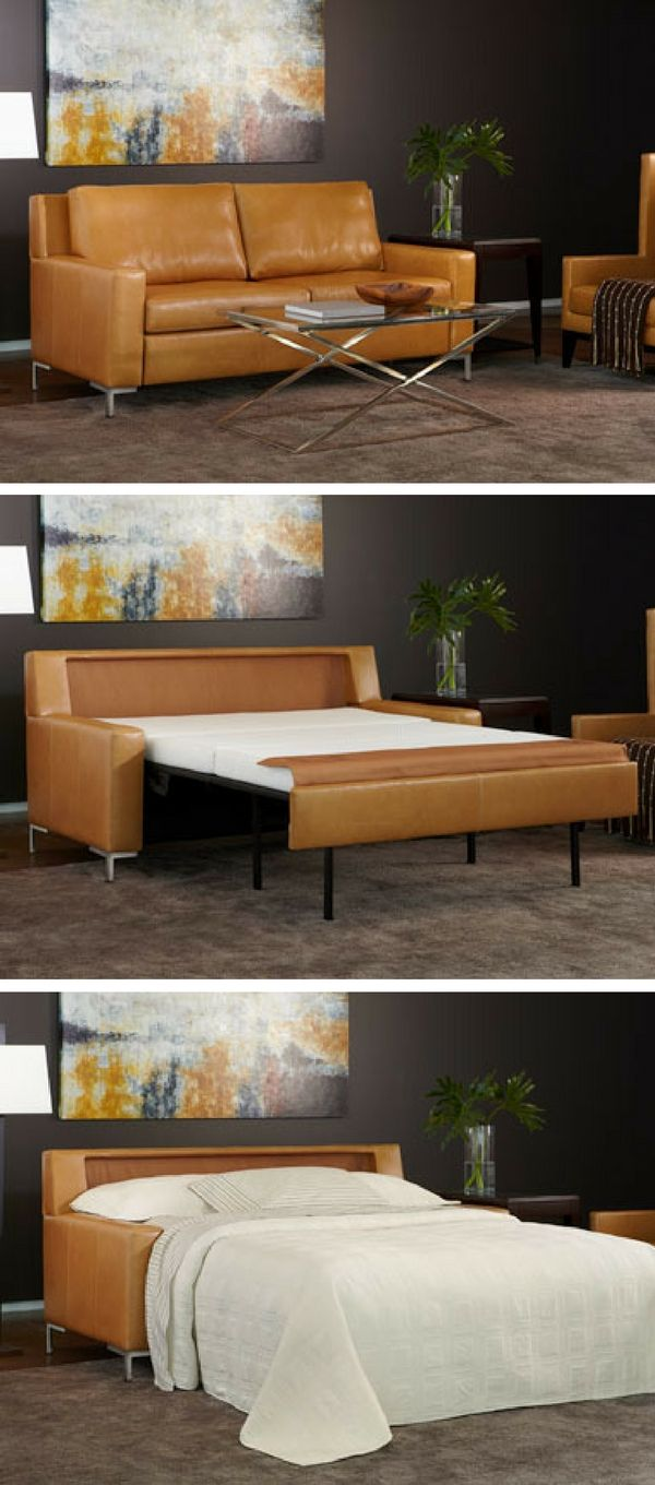 Best Built Sofa Beds Coverings Dogs The Sturdy Frame Real Leather Finish And A Sleeper Mattress Into Functional Piece Of Furniture Makes This One Americanleather