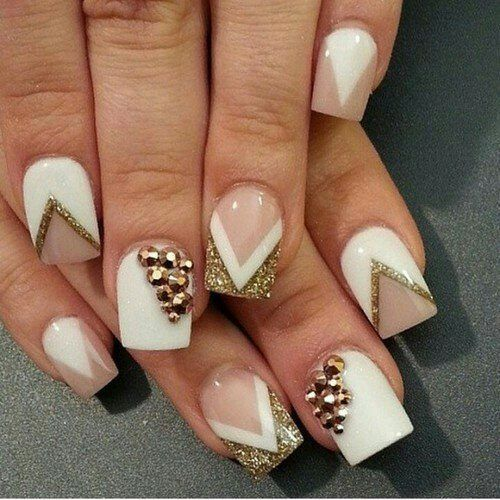 T gorgeous acrylic nails designs red acrylic nail designs - Nageldesign beige gold ...
