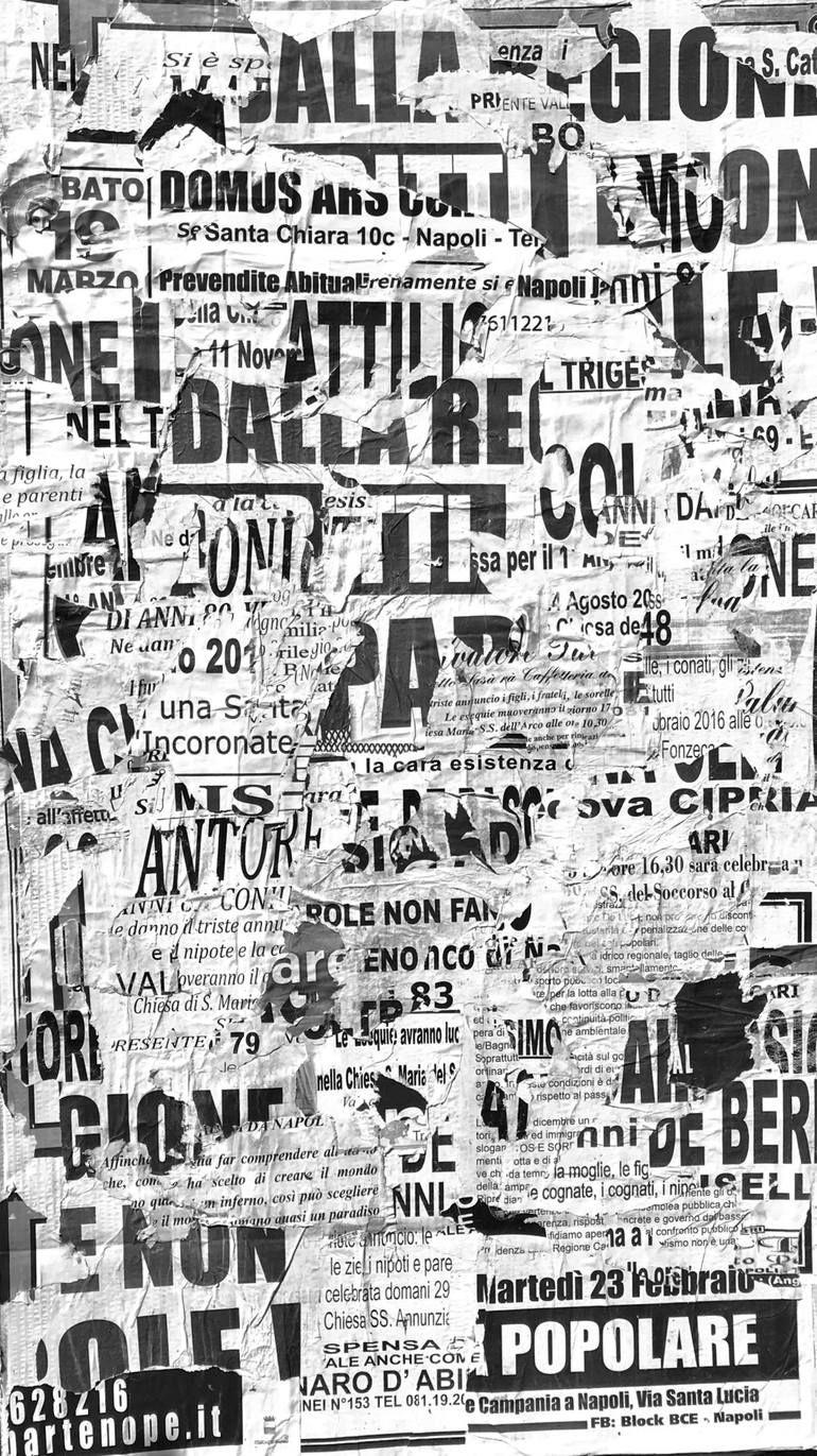 Italia Black and White Collage