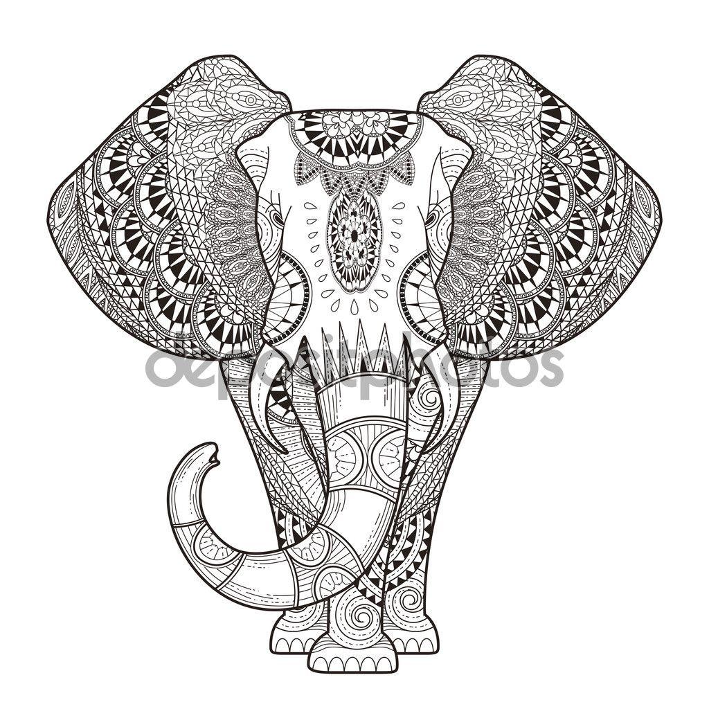 Descargar - Elefante elegante — Ilustración de stock #7