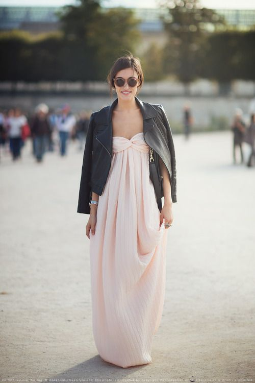 How to wear a maxi dress out at night