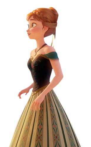 Anna in her green dress - frozen Photo