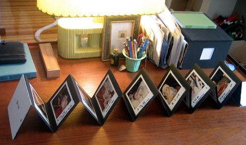Handmade Polaroid accordion album