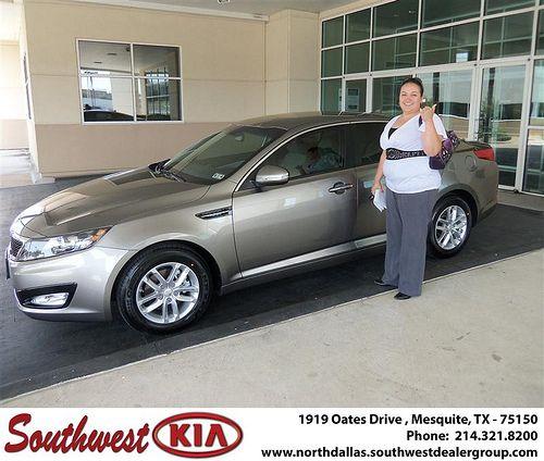 Southwest Kia of Mesquite would like to wish a Happy Anniversary to Sandra Saenz on your 2012 Kia Optima