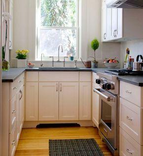 cocinas cuadradas en u cmo distribuirlas - Cocinas Cuadradas