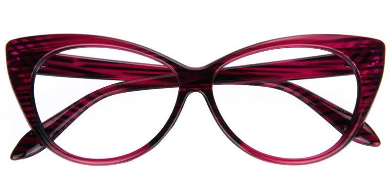 5d5c9a84a7 Zona Red Cat Eye Glasses Metal Prescription Eyeglasses 0101-02 ...