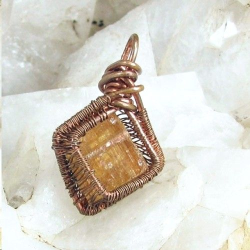 Imperial topaz pendant copper wire wrapped men women rough crystal imperial topaz pendant copper wire wrapped men women rough crystal bohowirewrapped jewelry on artfire aloadofball Image collections