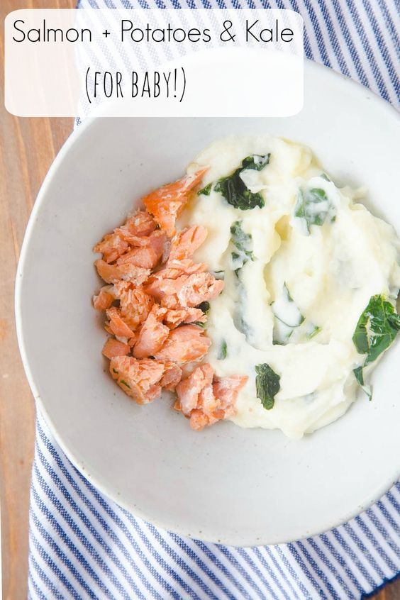Baby food recipes ideas salmon for baby with a potato and baby food recipes ideas salmon for baby with a potato and kale puree forumfinder Images