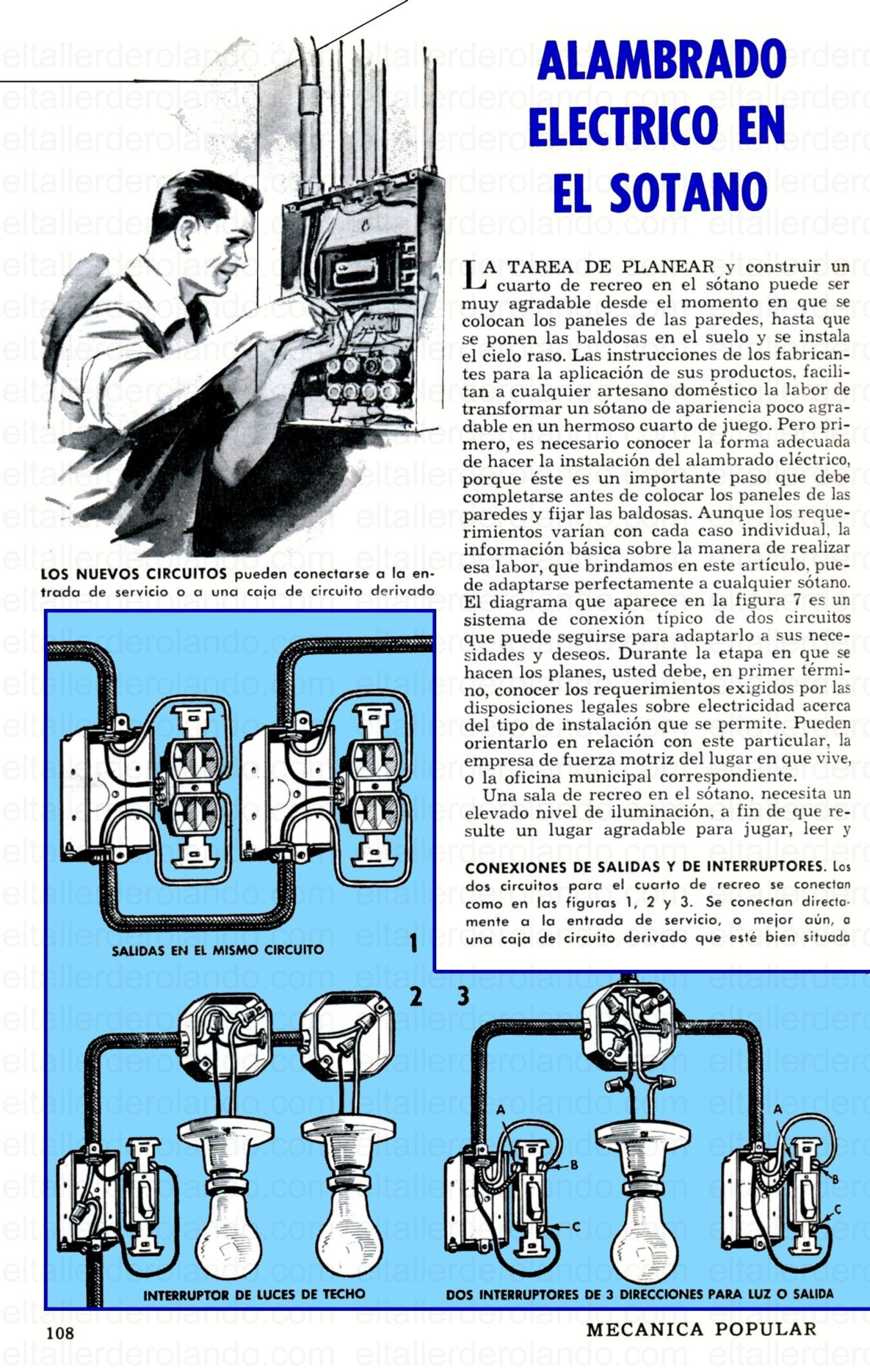 ALAMBRADO ELECTRICO EN EL SOTANO DICIEMBRE 1960 001 copia