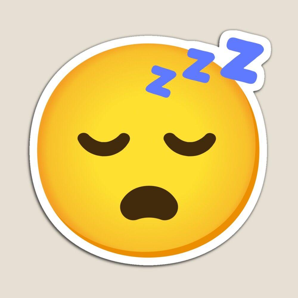 Emoji Sleeping Face Snoring Zzz Face Gift For Emoji Lovers Magnet By Mkmemo1111 In 2021 Face Gift Vinyl Sticker Emoji