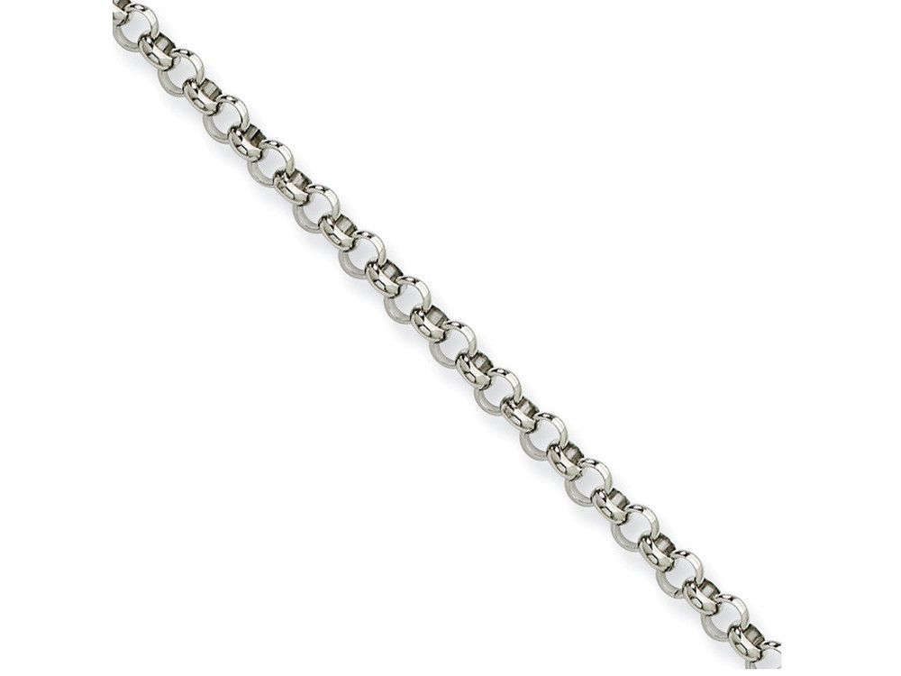 Chisel Stainless Steel 4.60mm 24in Rolo Chain Necklace