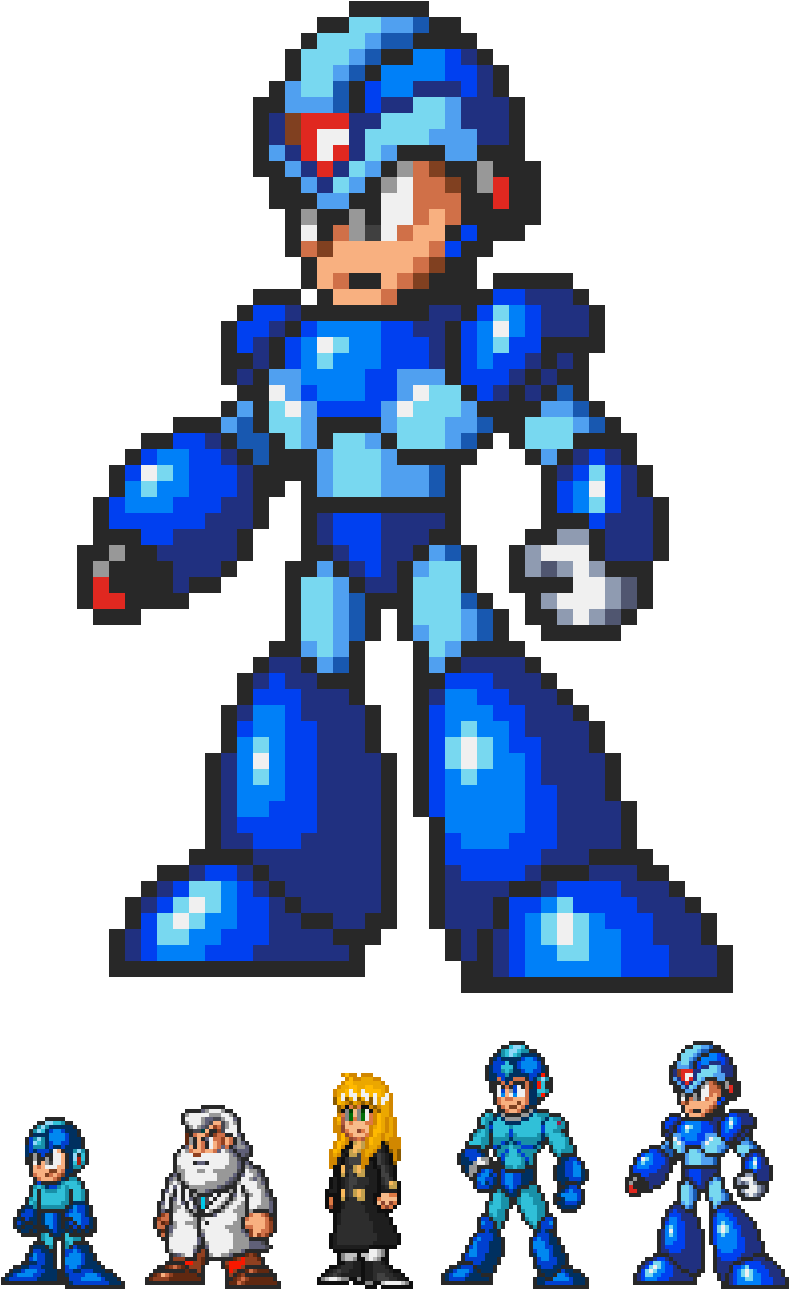 Image Result For Megaman X 32 Bits Sprites 32 Bit 8 Bit Megaman X 1308x1388 Png Download 32 Bit 8 Bit Sprite