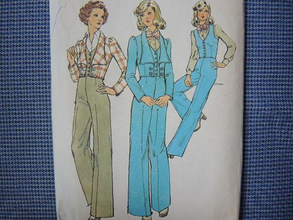 Vintage 1970s simplicity sewing pattern 6284 misses unlined jacket ...