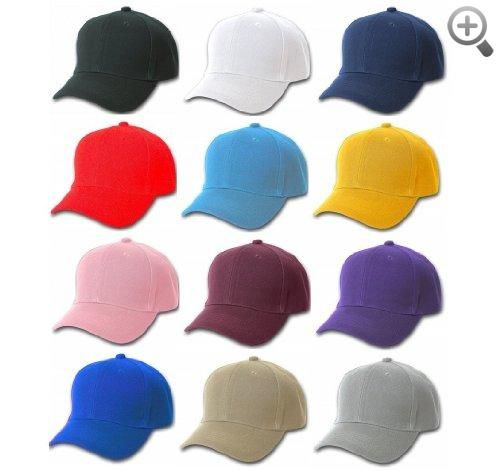 c8ca3eaeec0 Plain Baseball Cap Blank Hat Solid Color Velcro Adjustable - Black ...