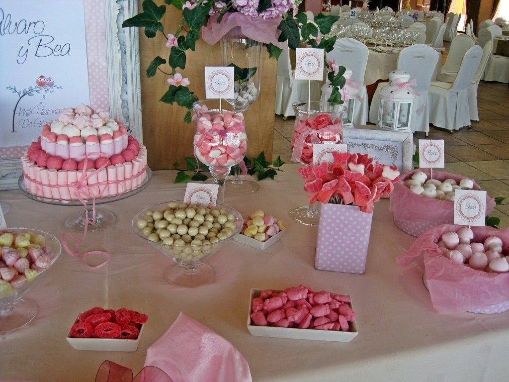 Candy bar mesa de chuches boda wedding mil historias de gominola pinterest bar mesas y - Decoracion de mesas de chuches para comunion ...