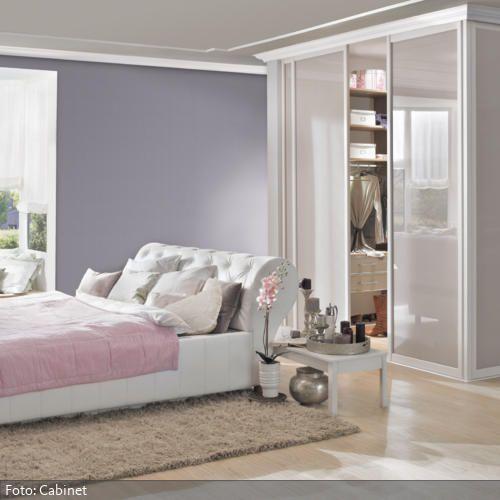 In dieses Schlafzimmer wurde ein begehbarer Kleiderschrank so in den ...