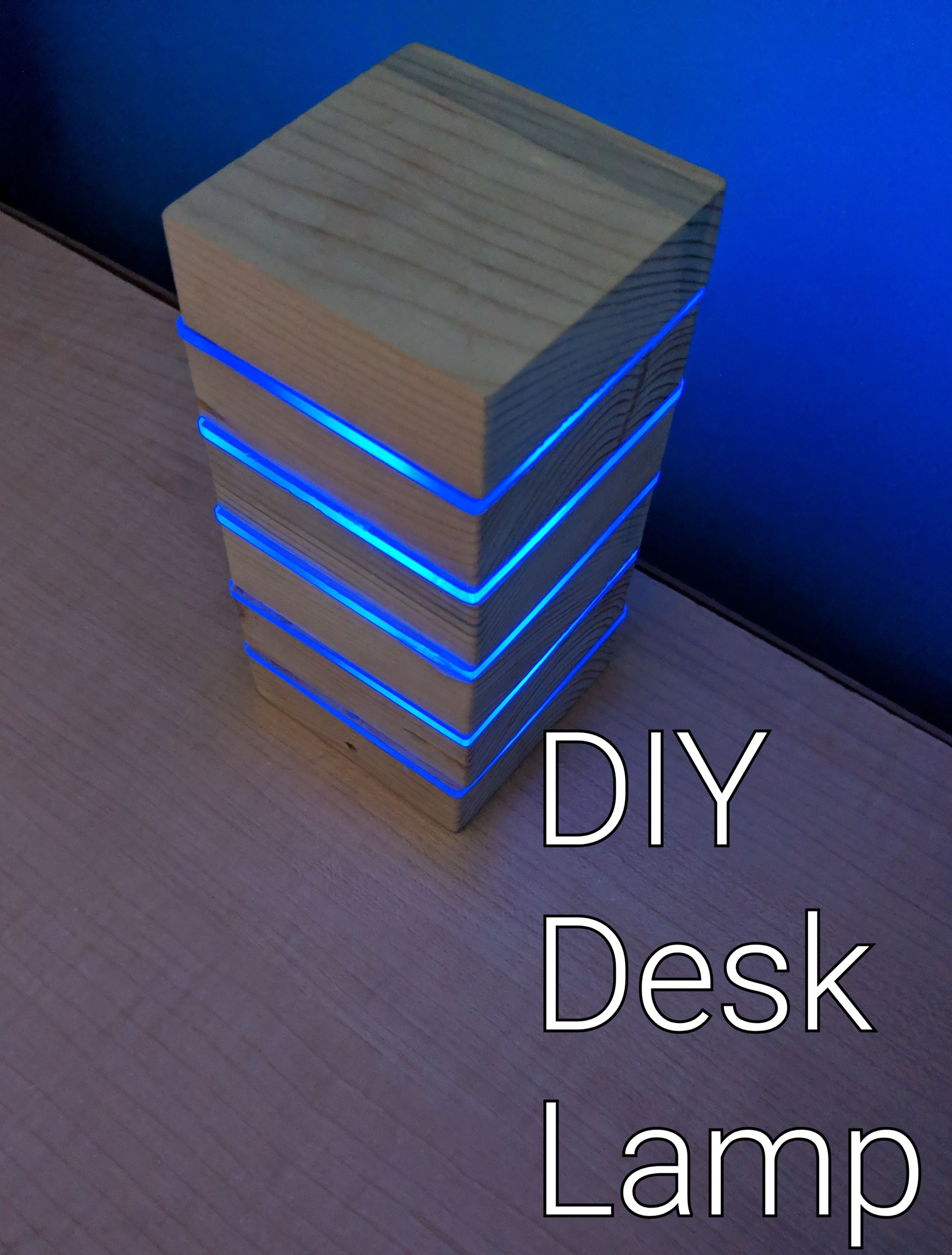 Diy Led Desk Lamp Made From Recycled Pallets Led Lighting Diy