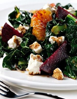 kale, beetroot, orange, feta salad
