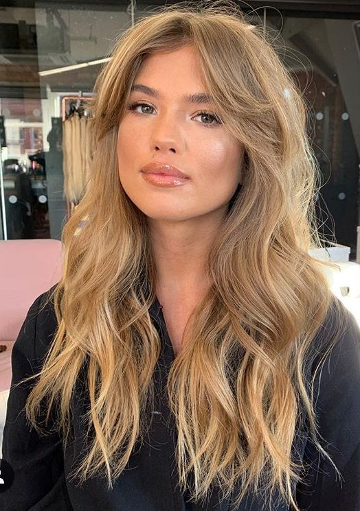 Pin By Alicia Mc Allister On Hair Makeup Nails Haircuts For Long Hair With Bangs Bardot Hair Long Hair With Bangs
