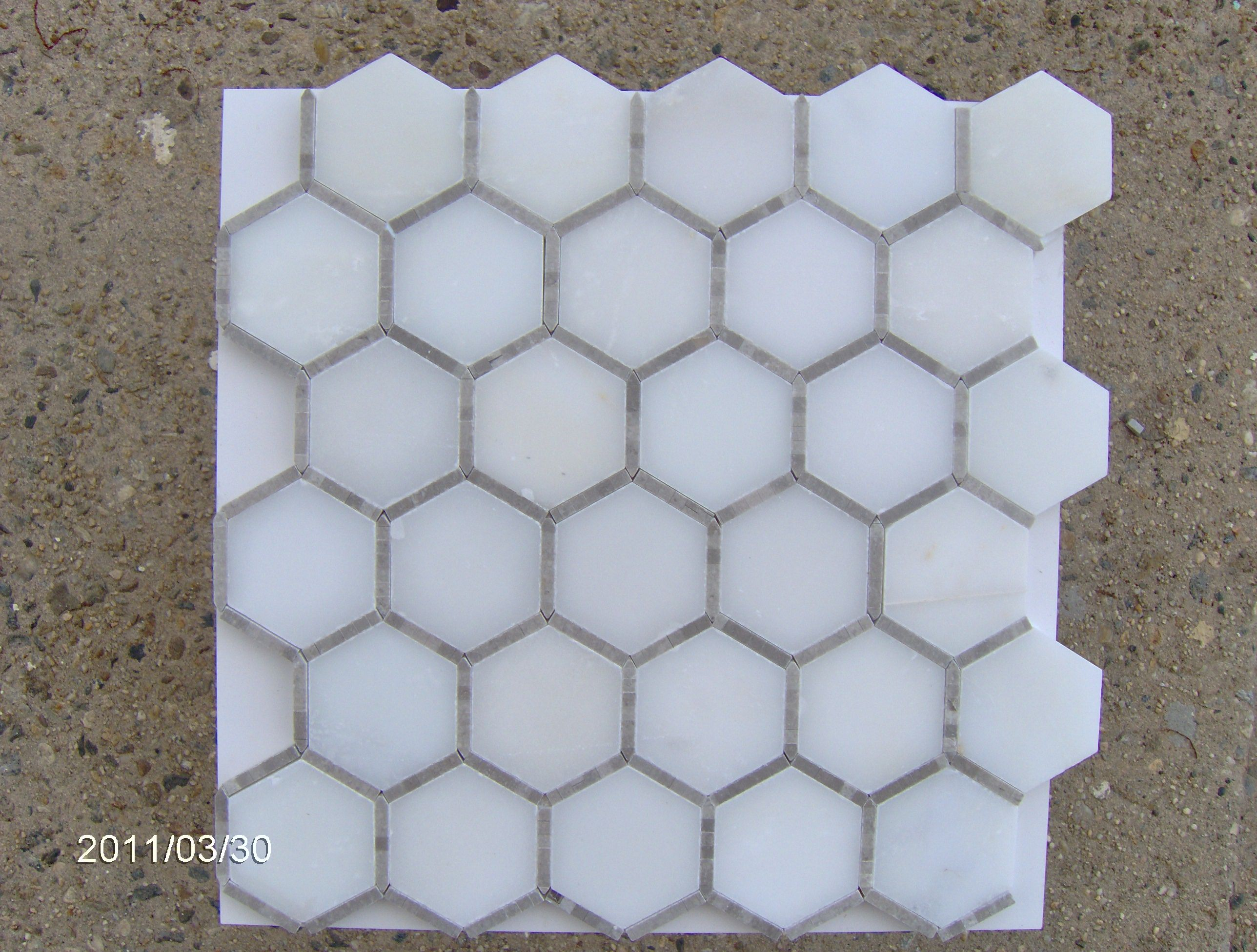 Micro Mosaic From Jerusalem Heights Hexagon