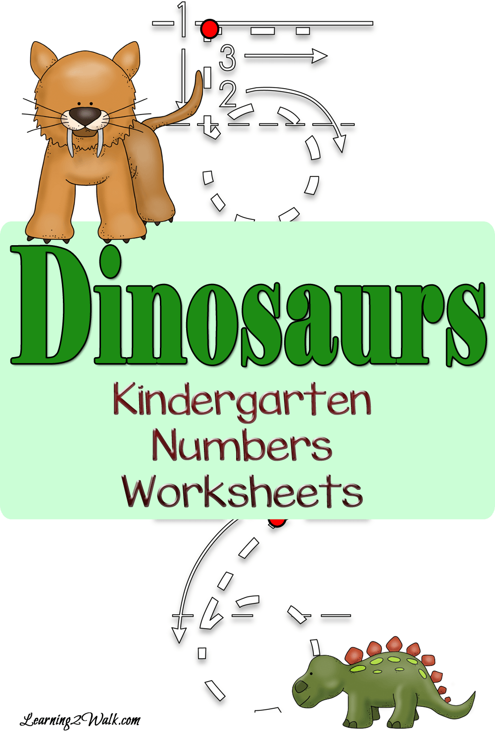 Dinosaur Kindergarten Numbers Worksheets | Number worksheets ...