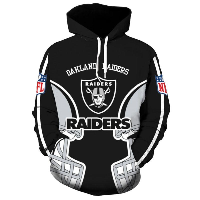 Las Vegas Raiders Hoodies for Men Football Team Logo Hooded Sweatshirts /& Pullovers for Fans