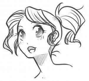 how to draw manga heads step 19