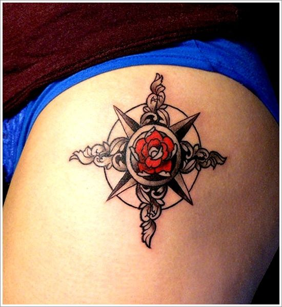 35 Compass Tattoos To Show You The Way | Compass tattoo, Compass ...