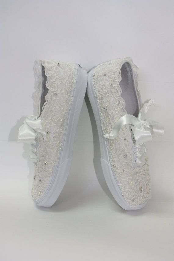 d0468535a2d5 Wedding Vans Lace Vans Bridal Tennis Shoes Lace by Parisxox
