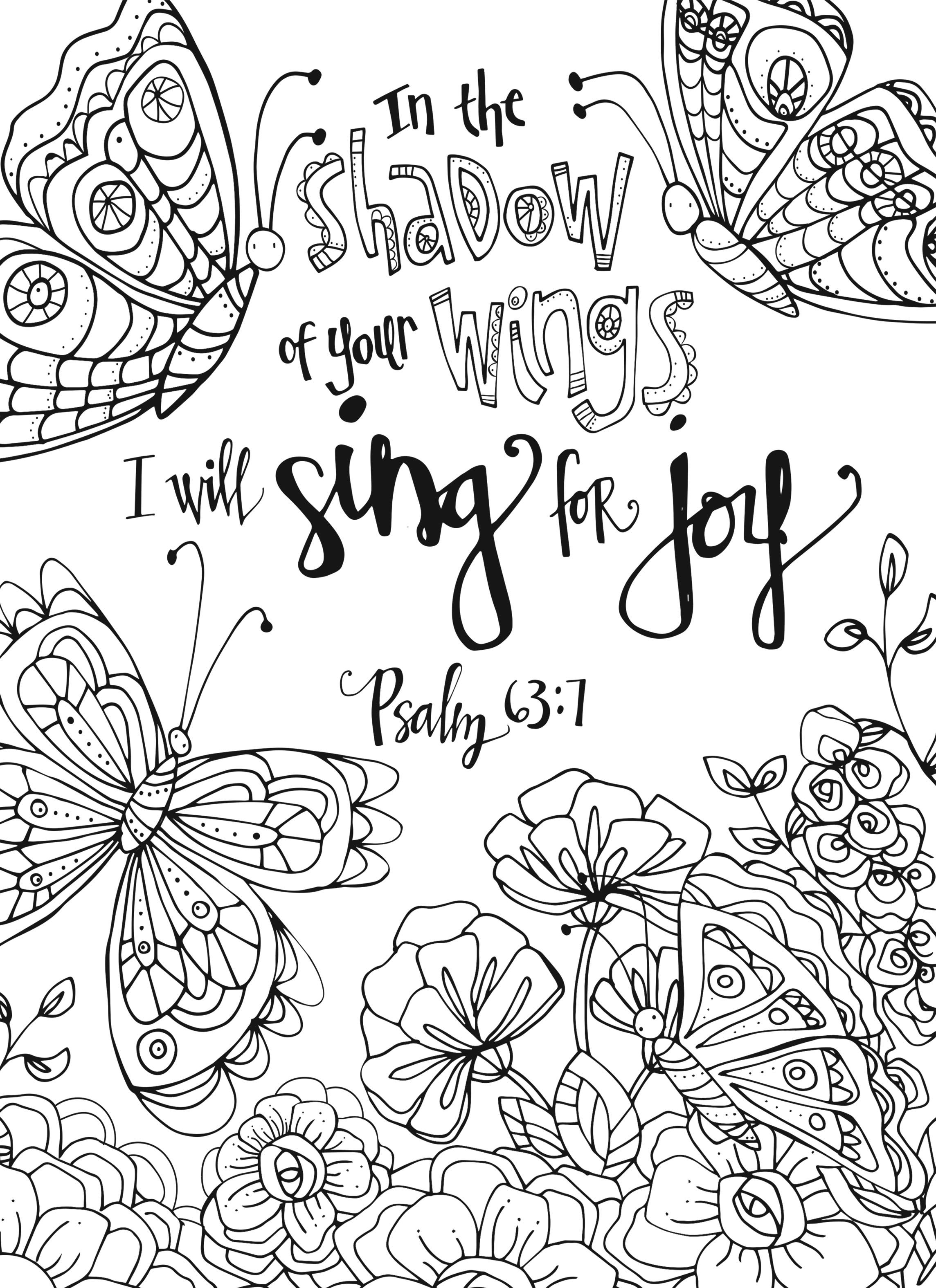 Inkspirations The Art Of Grace Coloring Psalm Faith