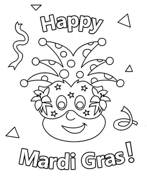 Happy Mardi Gras Coloring Pages | Kids Coloring Pages | Pinterest