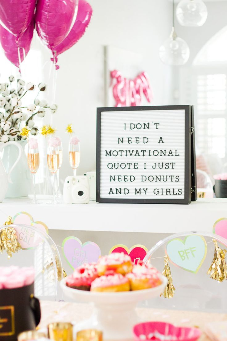 How To Throw A Galentine S Day Party Stephanie Pernas Valentines Theme Party Valentines Party Decor Galentines Party
