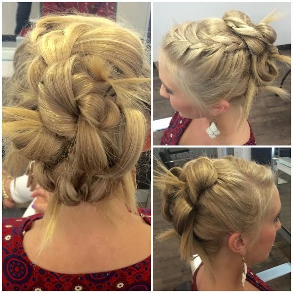 Phoebe Buffay Inspired Braided Updo Gorgeous Hair Color