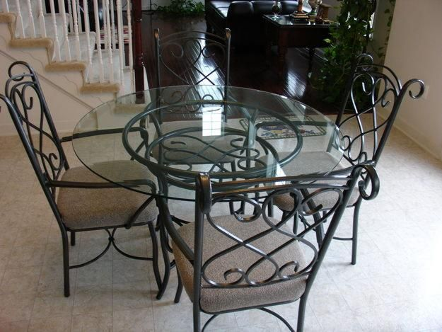 dining tables kitchen dining sets glass - Kitchen Glass Table