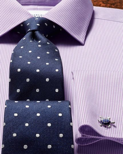 slim fit non iron lilac puppytooth shirt in 2019 alz tiez shirts shirt tie combinations. Black Bedroom Furniture Sets. Home Design Ideas