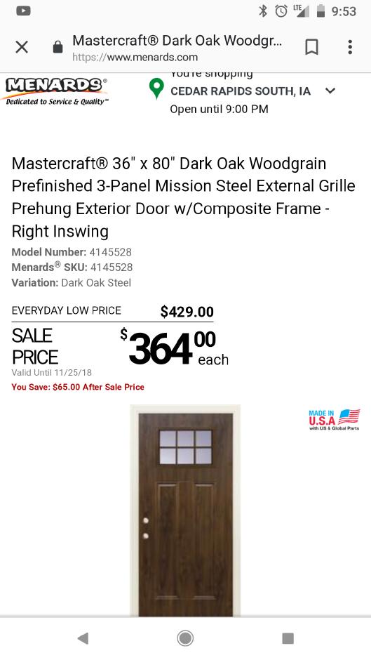 Pin By Debbie Lyon On Doors Prehung Exterior Door Exterior Door Frame Exterior Doors