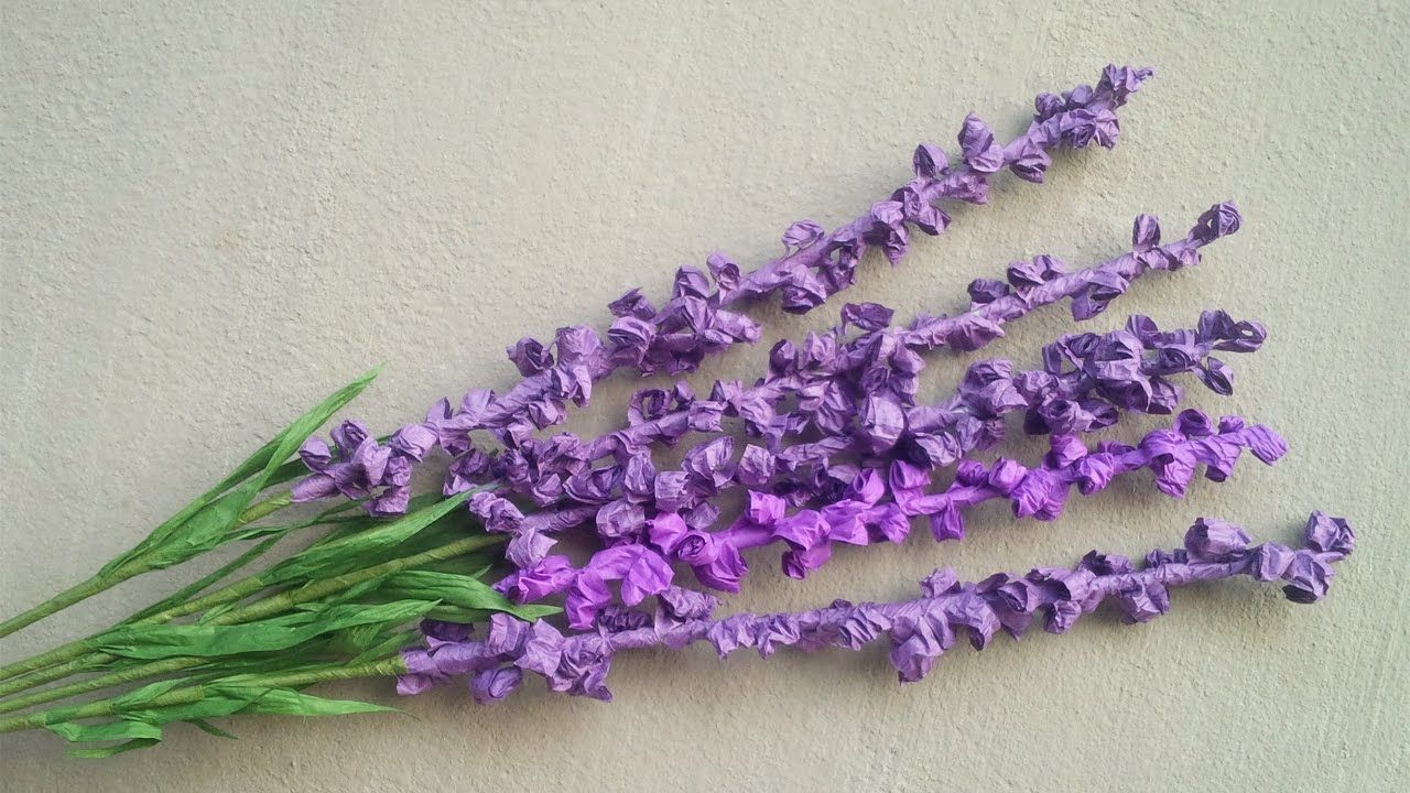 Abc Tv How To Make Lavender Paper Flower From Twisted Paper Rope