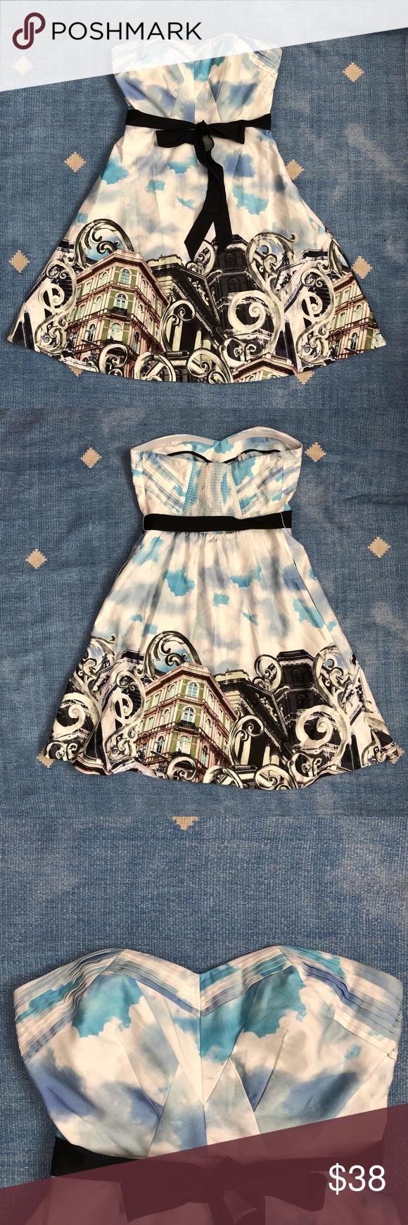 a0b77f09d92e8 Anthropologie skyward dress sz 8 moulinette soeirs Pretty Anthropologie  dress by Moulinette Soeurs. Strapless,