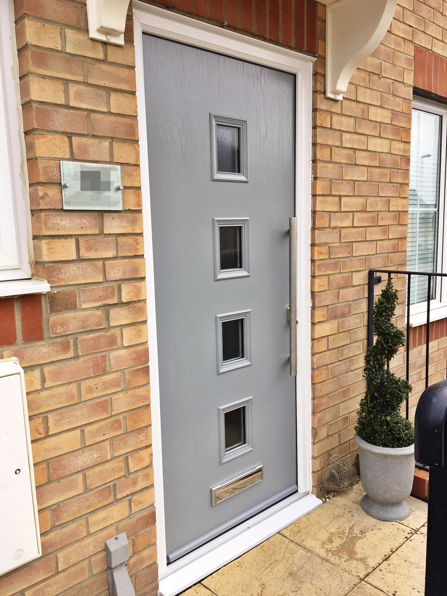 Composite Front Entrance Door In Gorgeous Traffic Grey