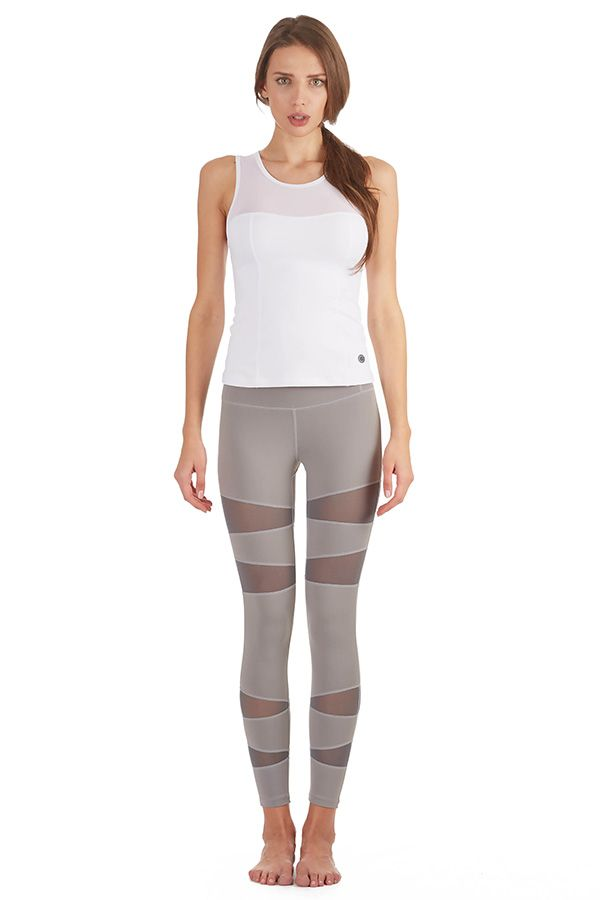 f56fd940e6962 Introducing our new Form Fitting Leggings with Mesh Vector Panels # ActiveWear #Workout #Yoga #Gym -Grey - prjon