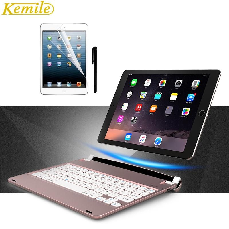 Kemile For ipad pro 9 .7 Cover Wireless Bluetooth Keyboard Folios Case  Cover For Apple iPad Air 2 iPad Pro 9.7 8e2d7c2287add
