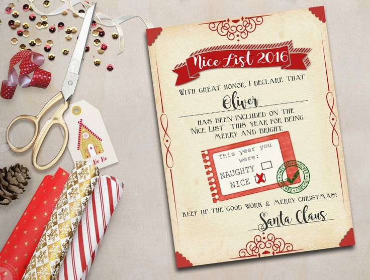 Santa nice list free printable certificate nice list free print your free santa nice list certificate kids will love to see their note from santa such a cute naughty or nice free printable certificate signed yadclub Choice Image