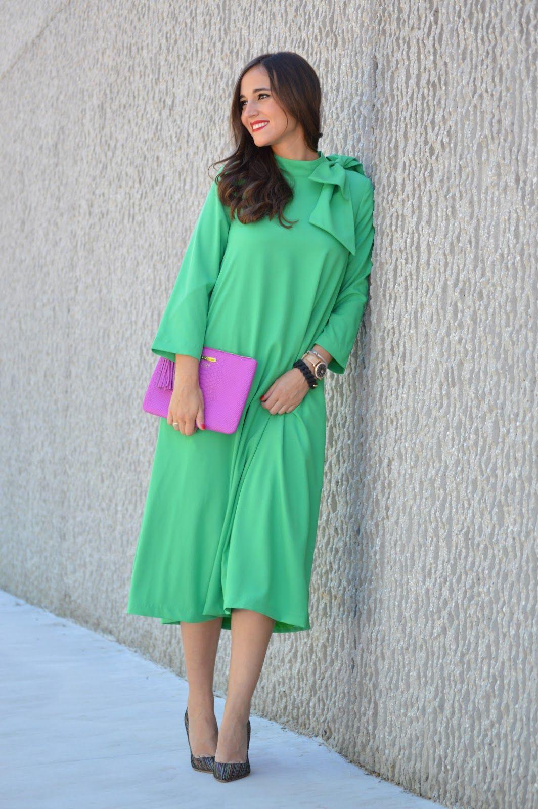 1000 Maneras de Vestir Blog - Modest lime green Parisian Poise dress ...