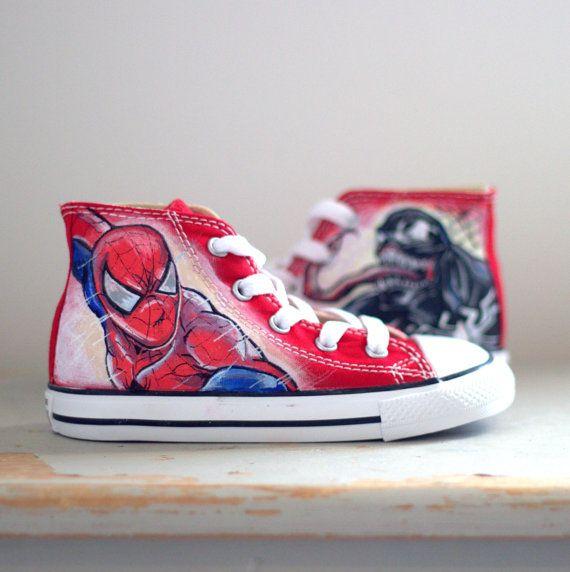 Unique Kids Custom Spider Man Converse by Unique8Sneaks on