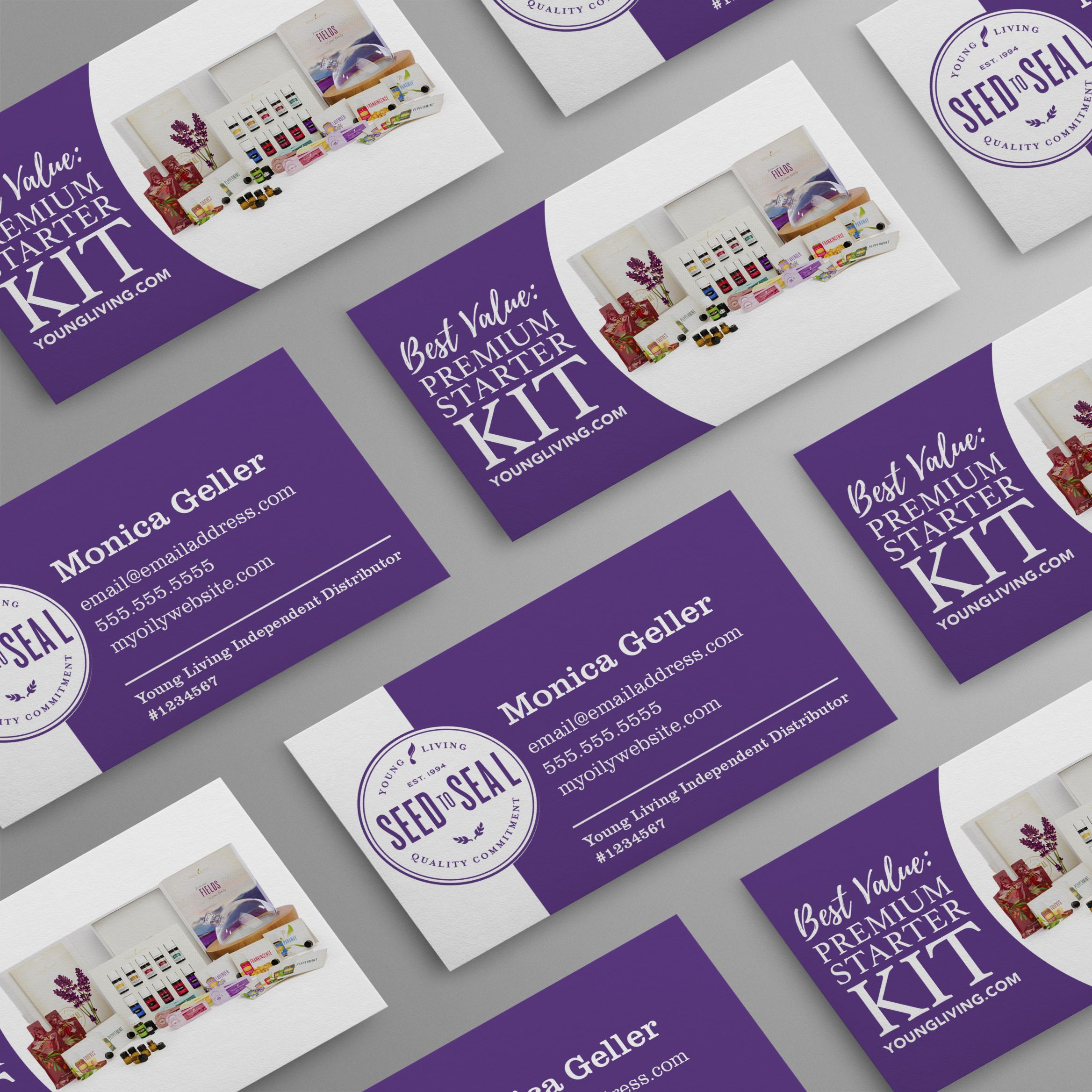 Seed to Seal logo with Premium Starter Kit Business Card
