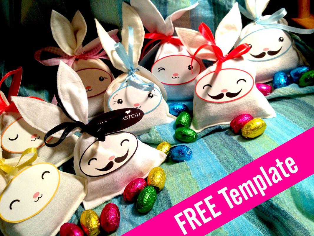 free easter bunny bag template cute bunnies wedding pinterest