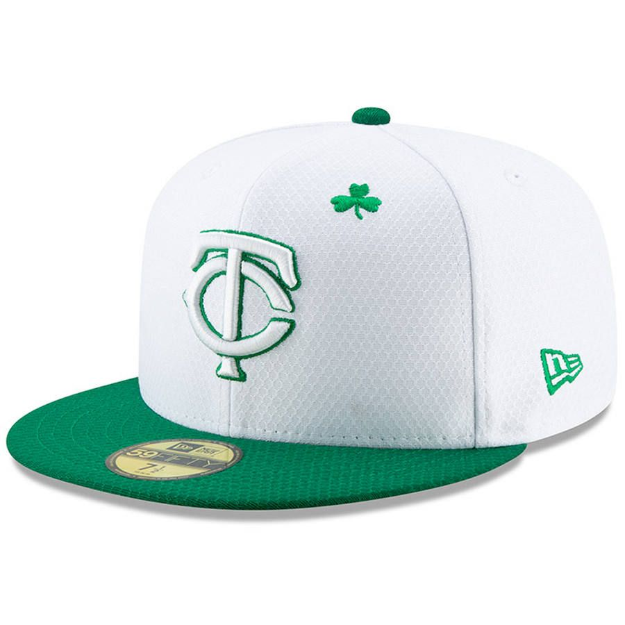 size 40 c4190 4e819 Men s Minnesota Twins New Era White Kelly Green 2019 St. Patrick s Day  On-Field 59FIFTY Fitted Hat,  39.99