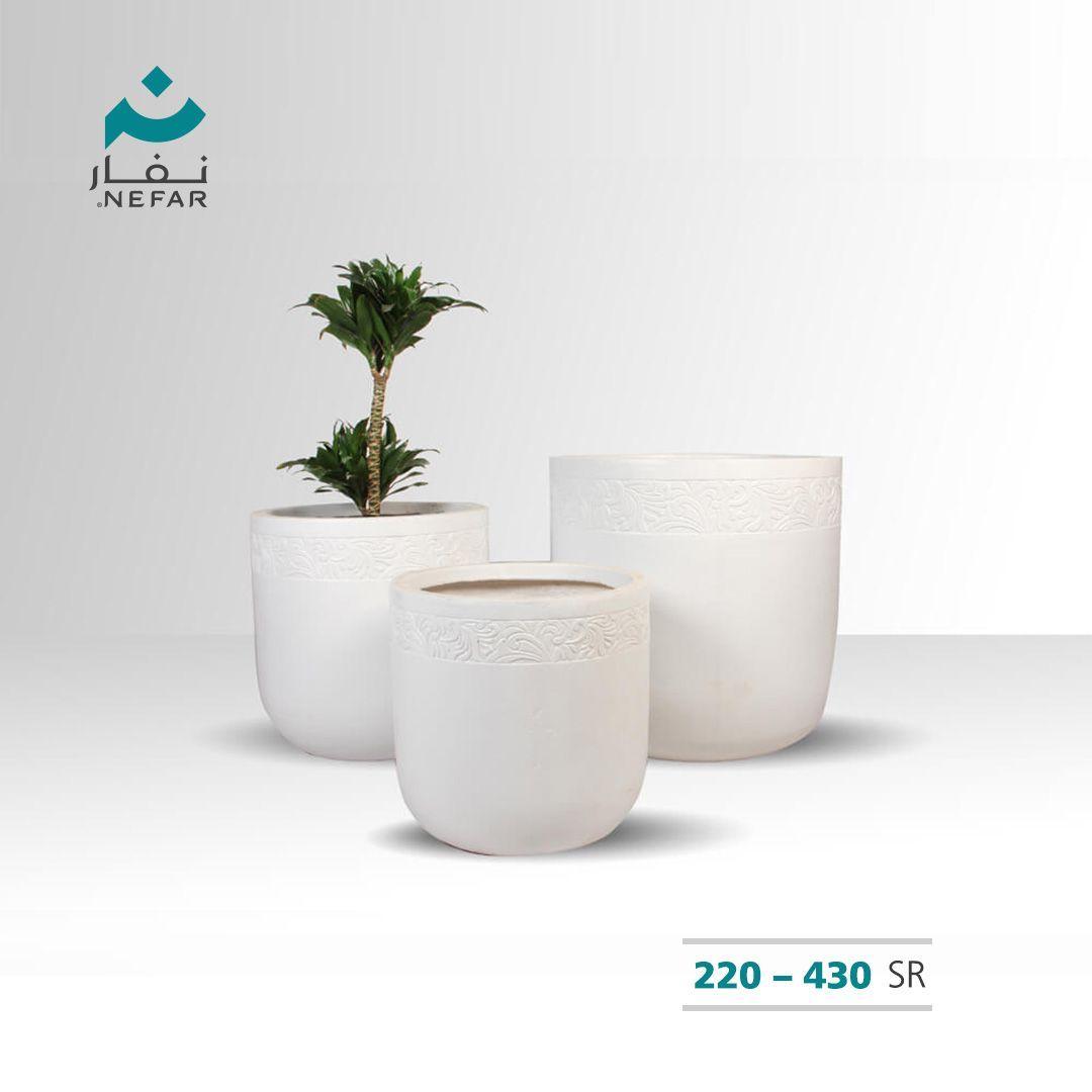 مركن كونكريت ديكور موديل 5123 24 25 Planter Pots Planters