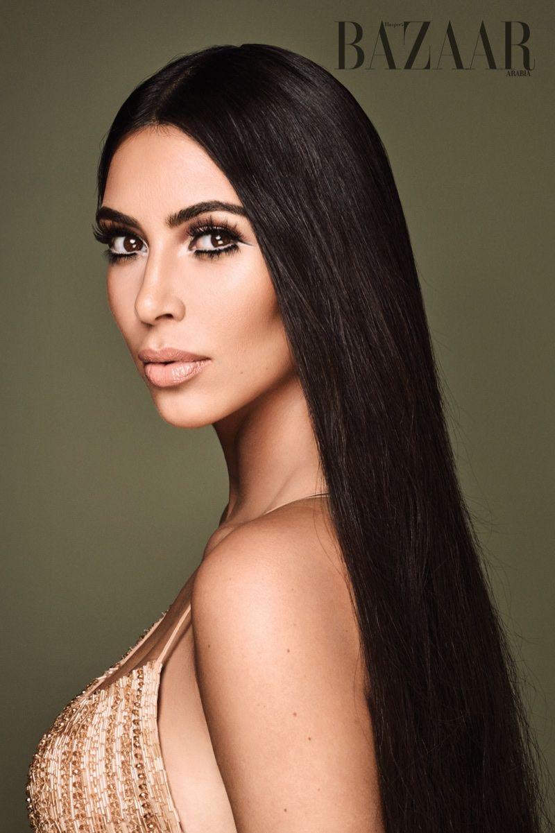 Kim kardashian delivers cher vibes for harperus bazaar arabia